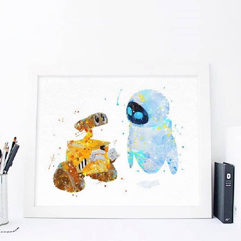 Rex Slinky Dog Hamm Toy Story Wall Art Disney Watercolor Poster Nursery UNFRAMED