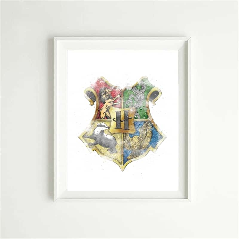 Harry Potter Type 1 Watercolor Poster Nursery Decor Art Print Baby Gift UNFRAMED