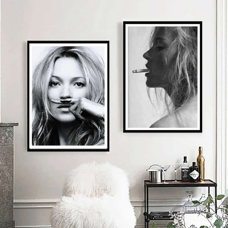 KATE MOSS POSTER PRINT A4 260GSM OR FRAMED OPTION