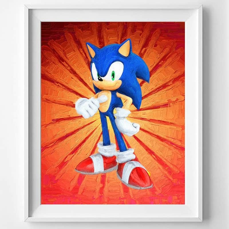Fun Sonic The Hedgehog Posters 7 Blank Posters